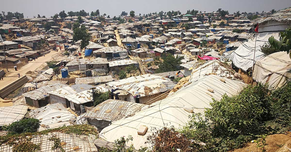 Photo: A Rohingya refugee camp in Cox's Bazar District.